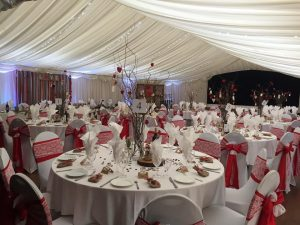 marque at wedding venue Westbury