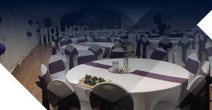 Tables at a wedding venue Westbury