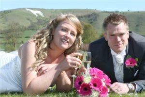 couple portrait photo at wedding venue near Wiltshire