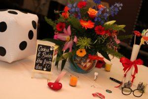 wedding venue celebration flowers Westbury