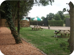 benches outdoors party venue hire Westbury