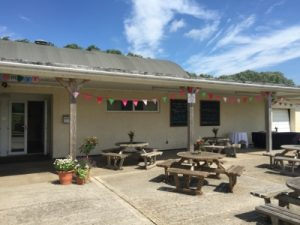 bunting and benches party venue Westbury