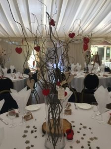 country park wedding table centrepiece Wiltshire