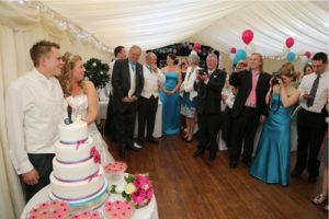 crowd celebrating wedding venue Westbury