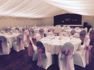 tables and stage country park weddings Wiltshire