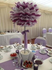 wedding venue westbury table centrepiece