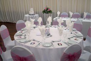 prepared reception tables country park weddings Wiltshire