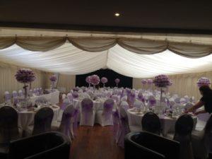 wedding venue westbury evening reception tables
