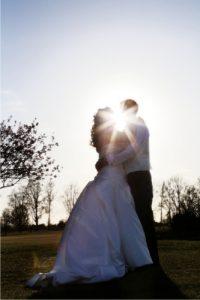 couple kissing wedding venue Westbury