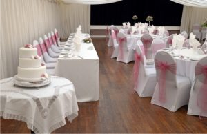 wedding venue Westbury cake and tables