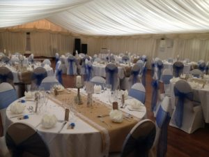 marque and tables country park weddings Wiltshire