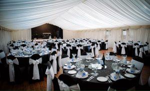 marque and tables wedding venue Westbury