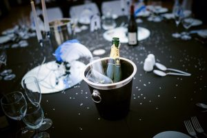 champagne bucket on table wedding venue Westbury