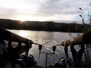 fishing the lakes in Wiltshire